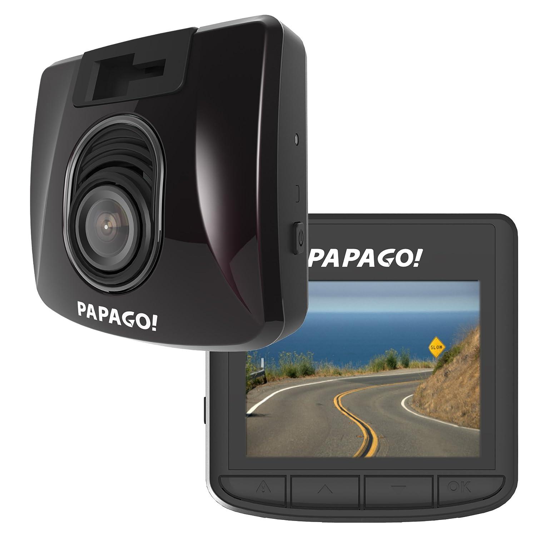 Papago Car Dash Camera GoSafe S30 Full HD Dash Cam 1080P Car DVR with GPS Option, SONY EXMOR SENSOR, Night Vision, Free 8GB Micro SD Card GSS308G, Black