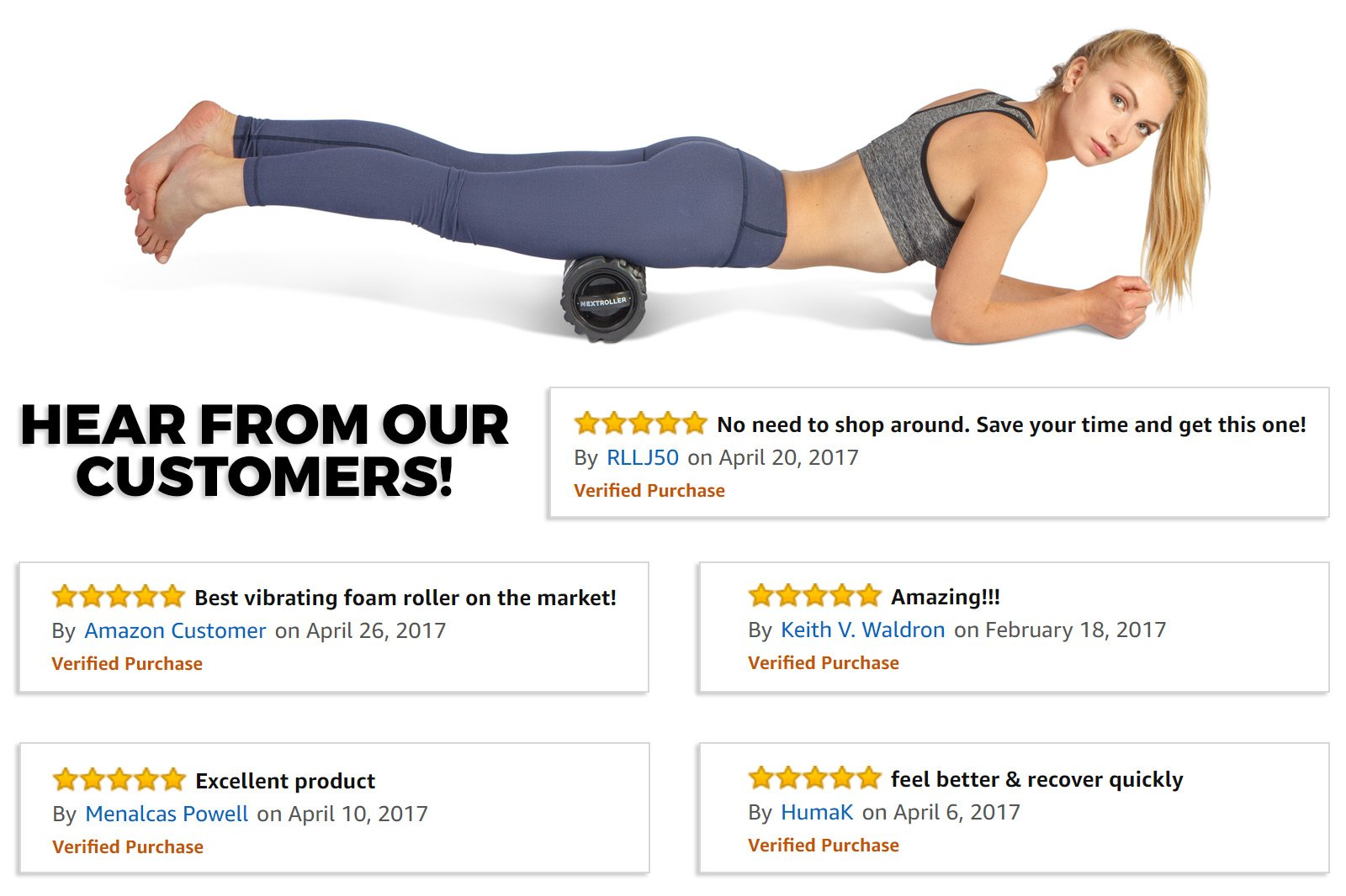 NextRoller 3-Speed Rechargeable Electric Vibrating Foam Roller - The Future of Muscle Recovery, Mobility, and Deep Tissue Trigger Point Sports Massage Therapy - Firm High Density, 1 Year Warranty by NextRoller (Image #2)