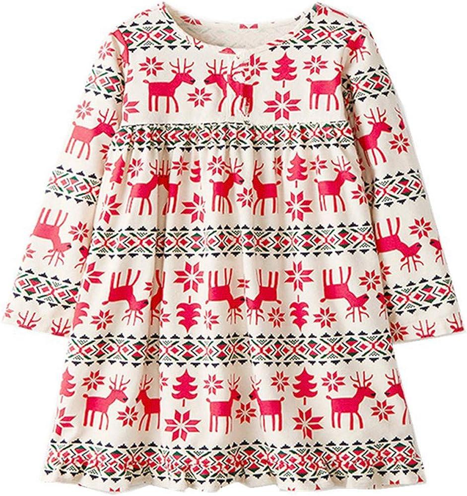 HCFKJ Ropa Bebe NiñA Invierno NiñO Manga Larga Camisetas Beb Conjuntos Moda NiñAs Princesa Christmas Vestido AlgodóN Estampado Ropa (5-6 años, Rojo): Amazon.es: Ropa y accesorios