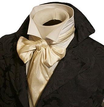 3225880f6b98 Elegantascot Men's Handmade Extra-Long Slim Regency Dupioni Silk Tie Cream  at Amazon Men's Clothing store: