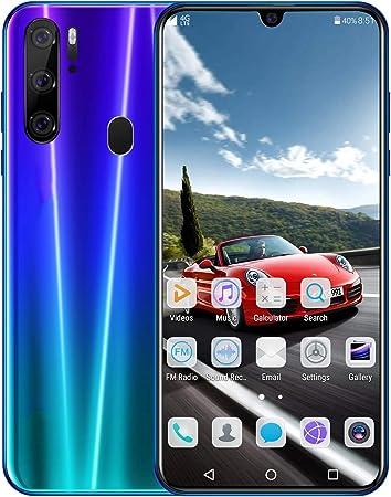 YXYNB Tres Teléfono con Cámara, 64 GB De 6.3 Pulgadas Smartphone con Doble Cámara AI, Teléfono Oreo 2 GB De RAM + 32 GB ROM, 4000Mah, 8 Cámara De 16MP + Dual Rear,Azul: Amazon.es: Hogar