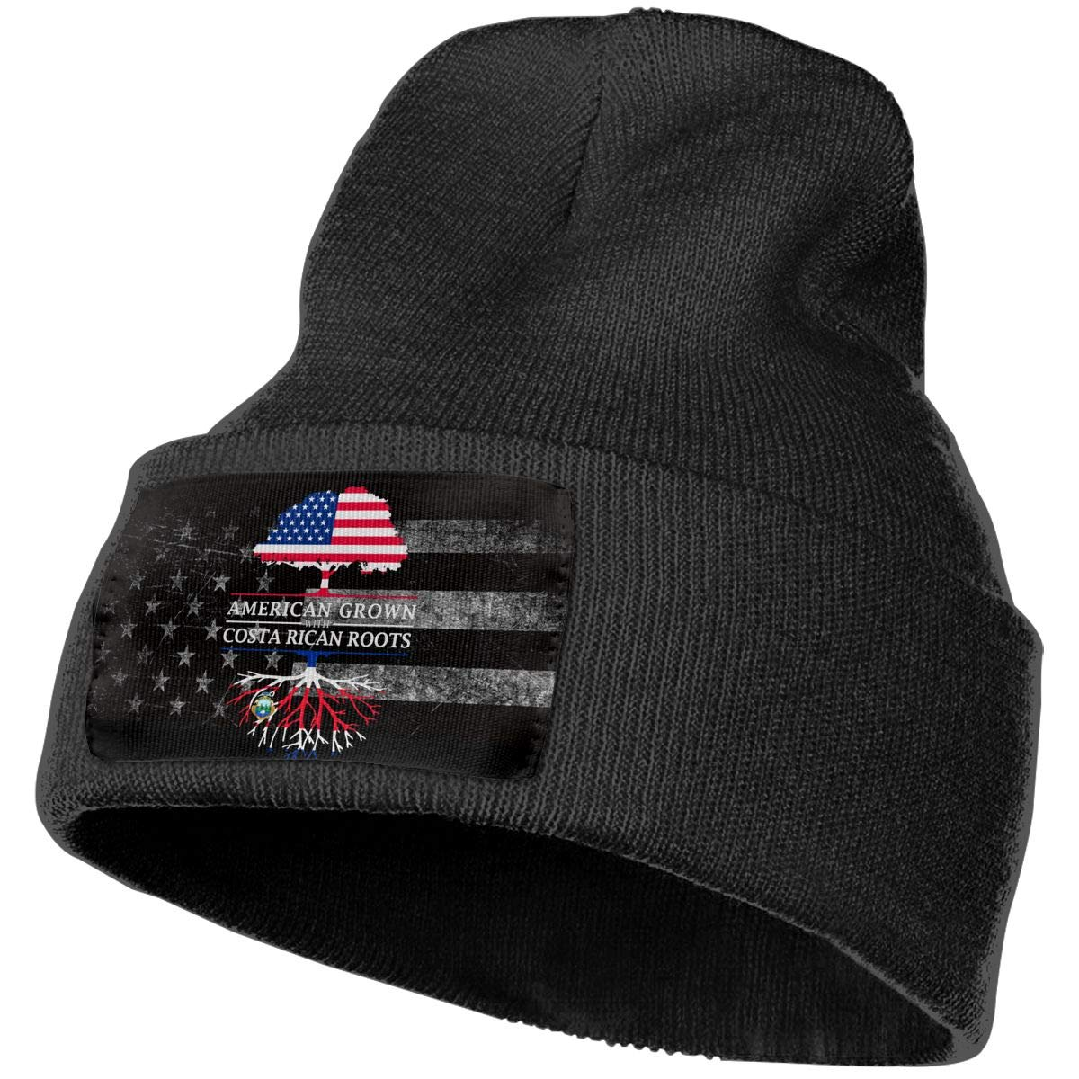 FORDSAN CP American Grown with Costa Rican Roots Mens Beanie Cap Skull Cap Winter Warm Knitting Hats.