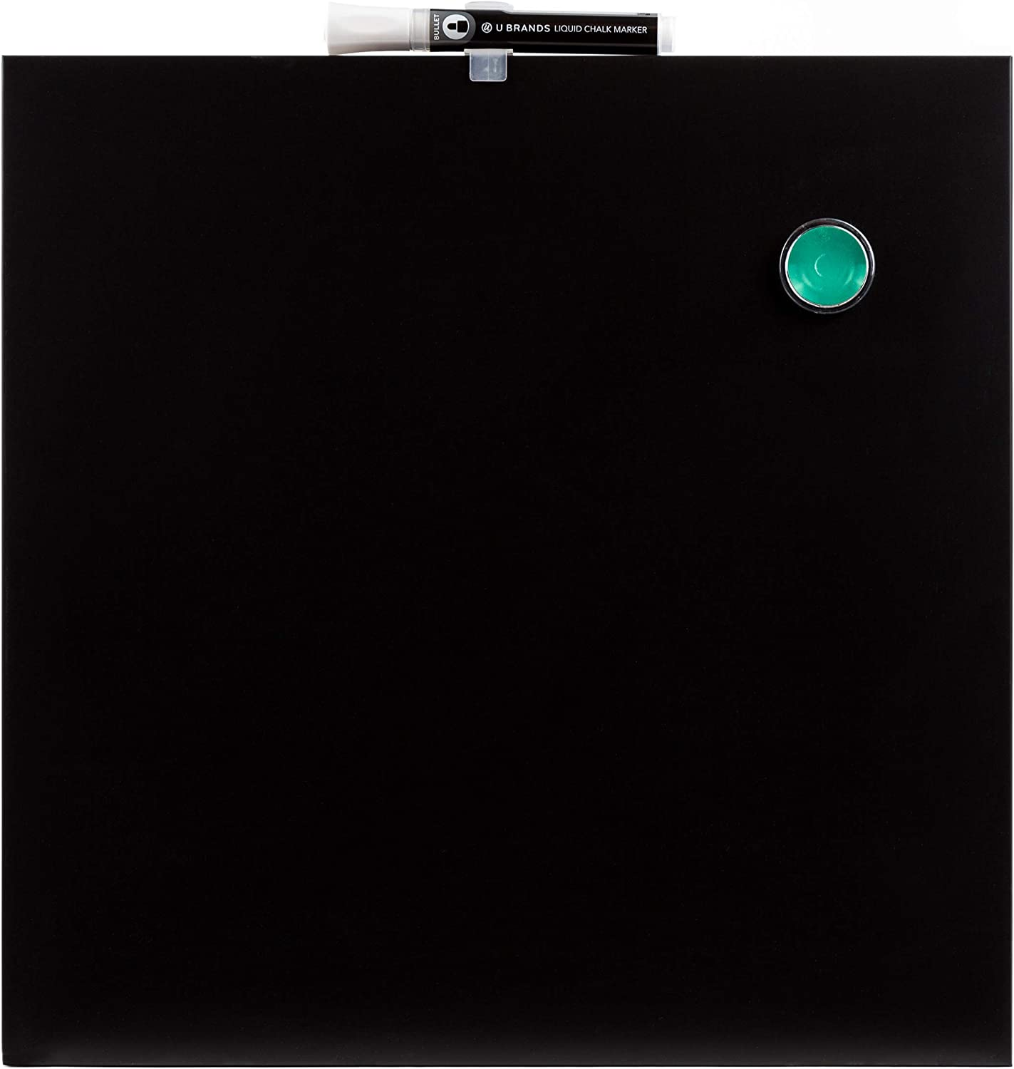 Amazon Com U Brands Square Magnetic Chalk Board 14 X 14 Inches Frameless Black Marker Included 468u00 04 Office Products