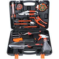 ValueHall Garden Gardening Tool Set 12 PCS Premium Garden Hand Tools Plant Care Mechanics Kit Pruning Tools, with Shovel, Saw, Measure etc, V7004-1