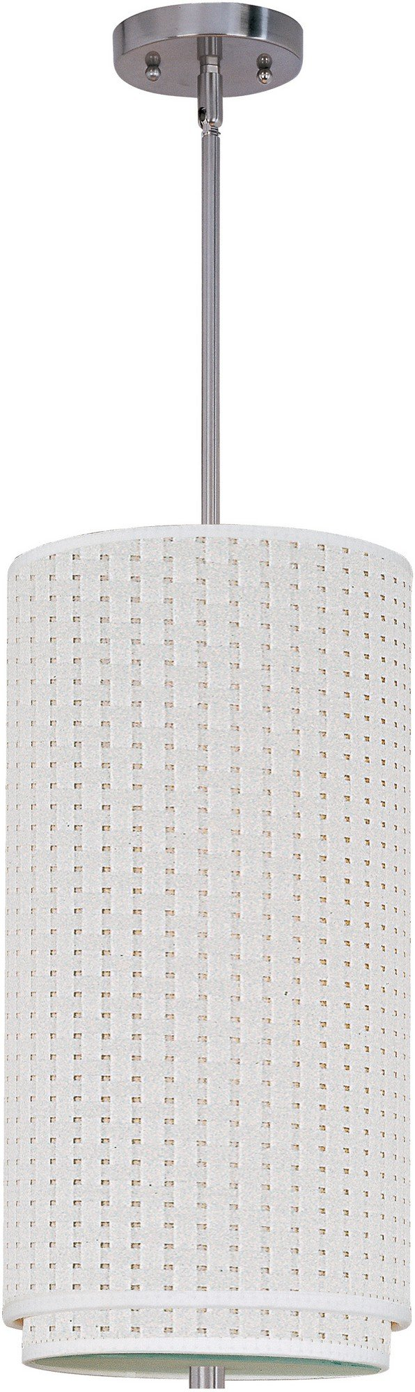ET2 E95144-100SN Elements 1-Light Pendant with Stem Mini Pendant, Satin Nickel Finish, Glass, GU24 Fluorescent Bulb, 20W Max., Dry Safety Rated, Standard Dimmable, Vinyl Shade Material, 2300 Rated Lumens