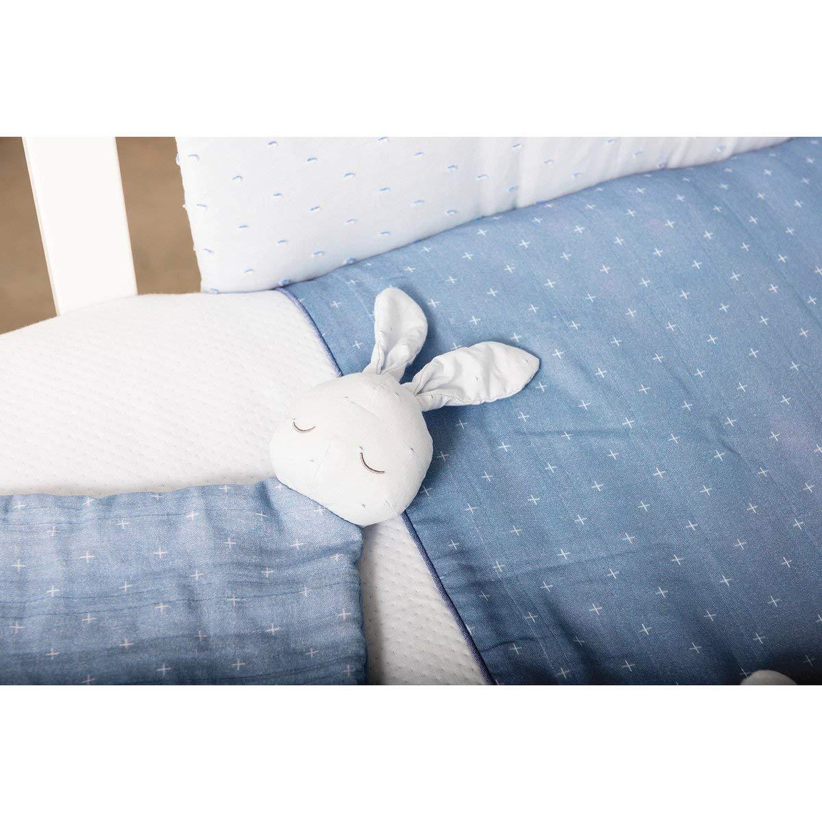 Nattou Doudou lapin Pure Cotton doudou bleu
