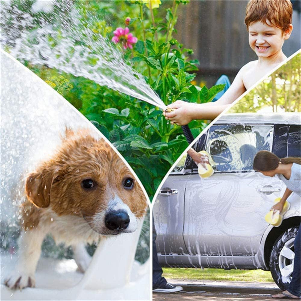 CLQya Garden Hose Pipe,3 Times Expandable Magic Hose Water Hose with Multi-Function Spray Gun for Washing Car/Garden Watering/Cleaning Windows/Floor,22.5M/75FT 22.5m/75ft