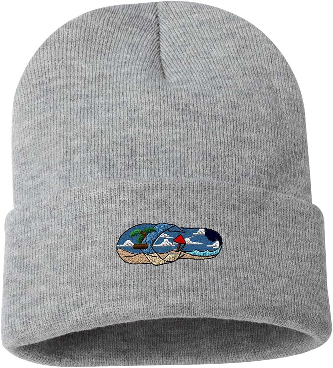 Flip Flop Scene/ Custom Personalized Embroidery Embroidered Beanie