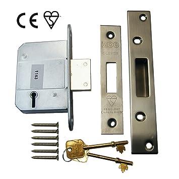 5 cerraduras de cerrojo de - 6,35 cm acero inoxidable satinado - fortaleza ERA de repuesto - con marca CE - cerradura: Amazon.es: Bricolaje y herramientas