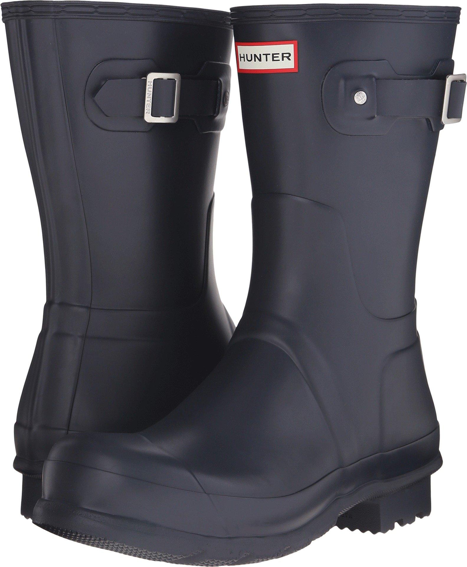 Hunter Mens Original Short Rain Boots Navy 10 M