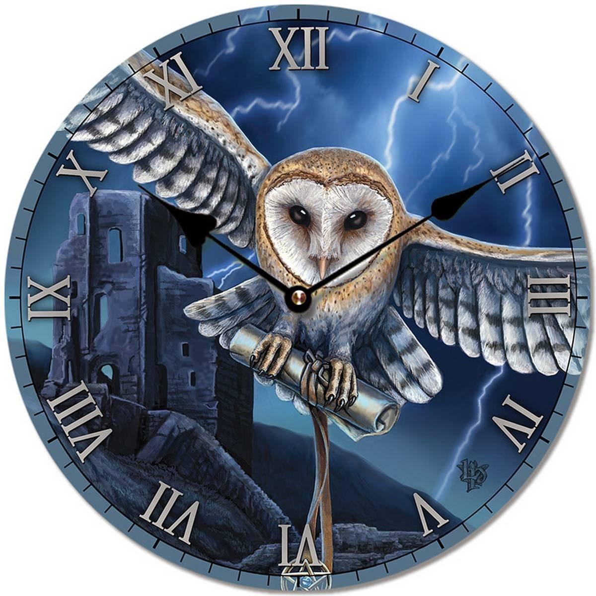 Decorative Fantasy Wall Clock - Heart of the Storm Owl Puckator