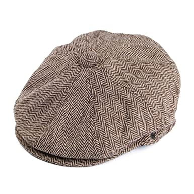 d9828a08e478e Amazon.com  Jaxon Hats Herringbone Newsboy Cap  Clothing