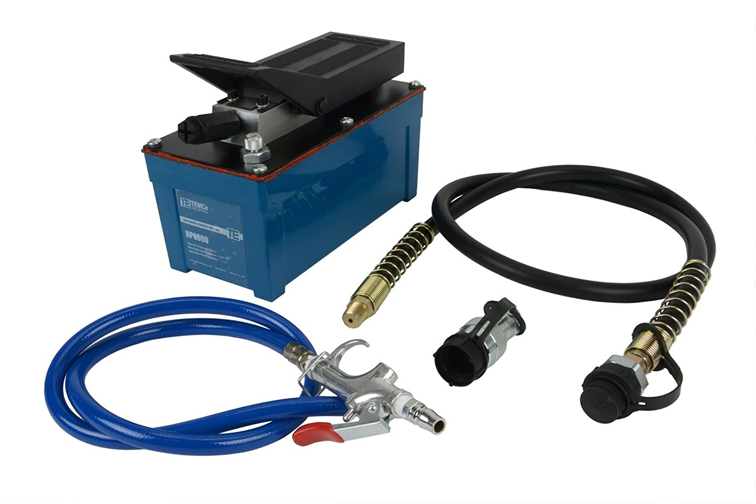 TEMCo HP0000 - Air Hydraulic Pump Power Pack Unit 10, 000 psi 103 cubic in Capacity - 5 YEAR Warranty