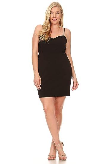 Amazon.com: C.O.C. Curve Women Plus Size Sleeveless Bodycon ...