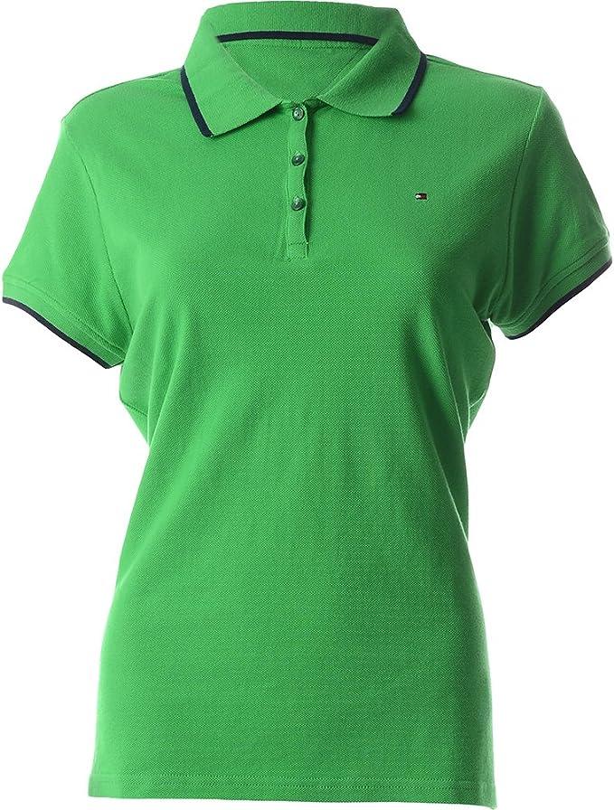 Tommy Hilfiger polo hombres de la camisa de polo verde TM416 40 ...