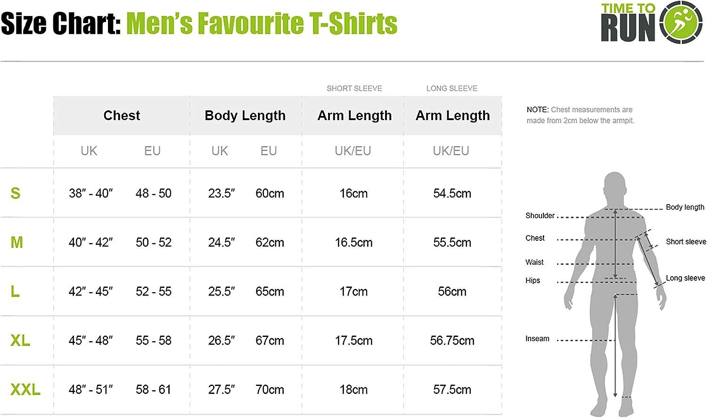 Oberteil f/ür Herren time to run Favourite Laufen-Jogging-Shirt mit Langen /Ärmeln