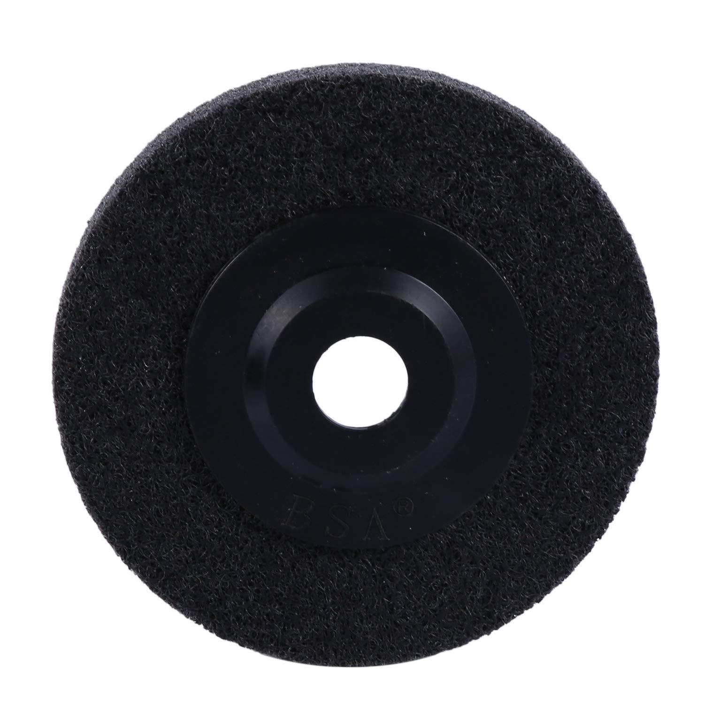 REFURBISHHOUSE 5Pz 4 Pollici Ruota di Lucidatura un Fibra di Nylon Non Tessuta Disco Abrasivo Abrasivo Disco Abrasivo Mola per Lucidatura Metallo Ceramica Marmo Legno Lucidatura Artigianale