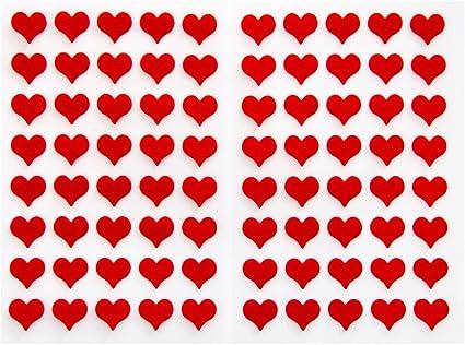 80 St. rojas pequeñas Fieltro Corazones Pegatinas Pegatinas fijo klebend con 1,4 cm de diámetro; corazón pegatinas para decorar y manualidades: Amazon.es: Oficina y papelería