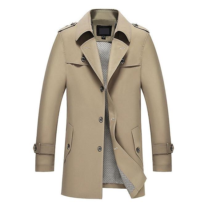 Botia Hombre Outwear Chaqueta Larga Cazadora de Otoño Chaquetas Elegantes: Amazon.es: Ropa y accesorios
