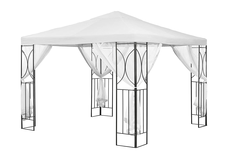 Amazon.de: SunTime polenza Creme Pavillon PA Beschichtung Stahl Weiß ...