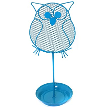Amazoncom Cute Owl Jewelry Organizer Blue Earring Jewelry Stand