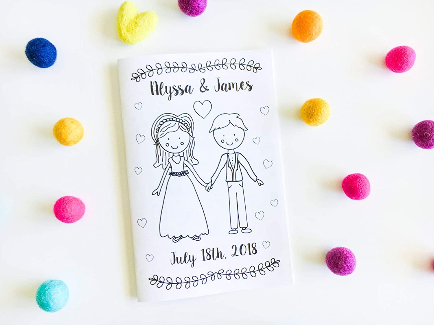 Personalized Wedding Activity Book - Wedding Coloring Book - Kids Wedding  Activity Book