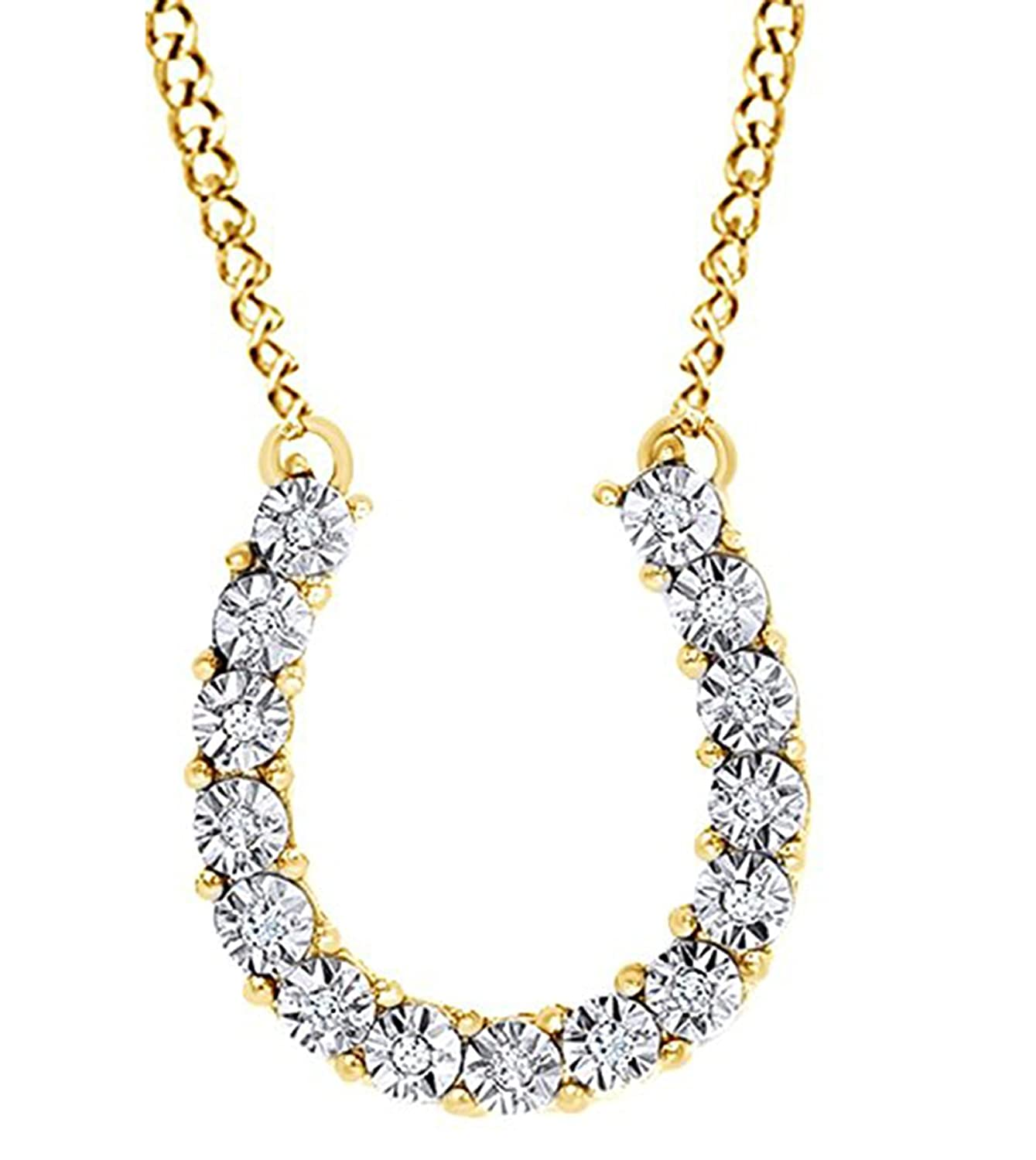 Suhana Jewellery Simulated Diamond Studded Elegant Fashion Charm Pendant Necklace in 14K White Gold Plated With Box Chain