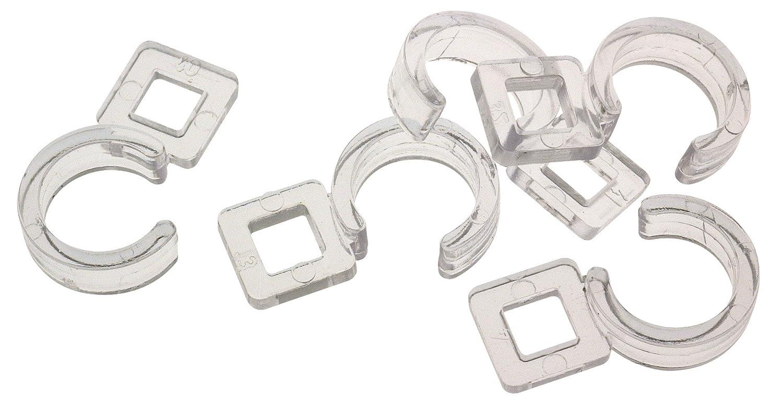 Agrafe pour diamètre 28 et 35 mm Ateliers 28 - Plastique à coudre - Transparent - Vendu par 10