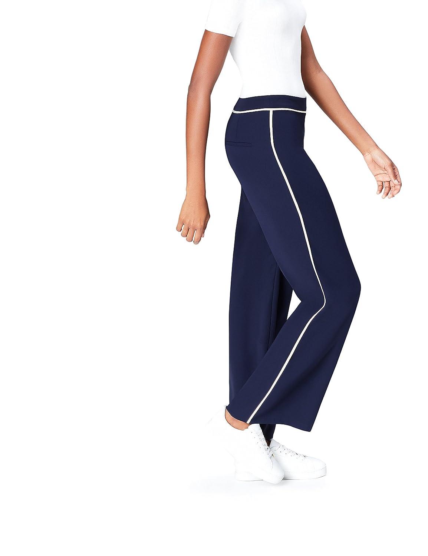 Find Pantalon Ancho Con Raya Deportiva Para Mujer Pantalones