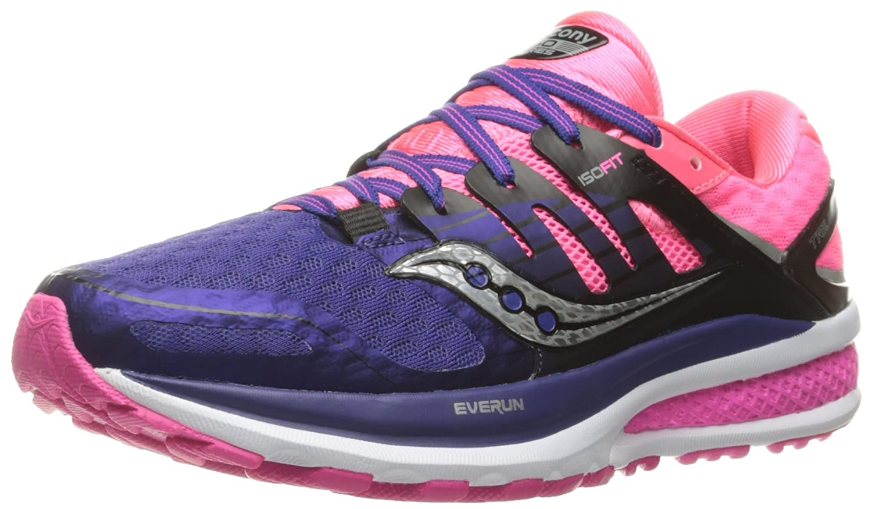 Saucony Women's Triumph ISO 2 Running Shoe B01E5XJ6H0 7.5 B(M) US Purple/Pink/Silver