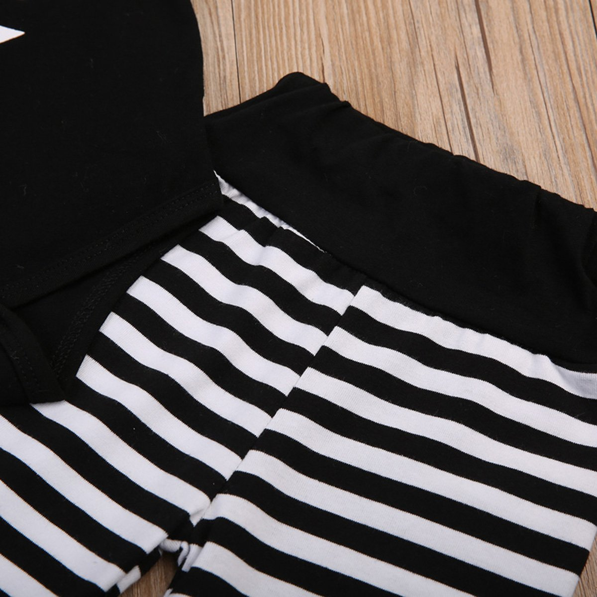 DiDaDo Little Brother New Crew Clothing Set Newborn Toddler Baby Boy Long Sleeve Romper Tops Stripe Pants Hat