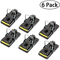 AOOKEY 6 Pack Kill Mice Catcher, Easy to Set Reusable Mouse Control Snap Traps