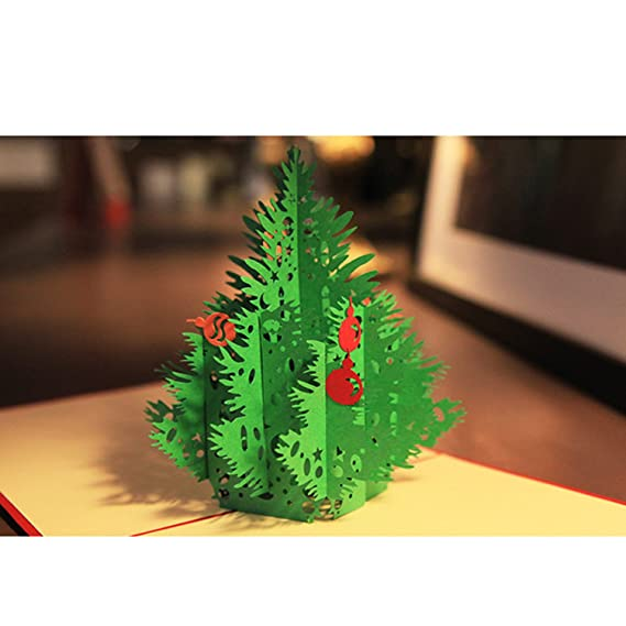 Amazon Com Nacodex Handmade Christmas Cards For Kids And Family 3d