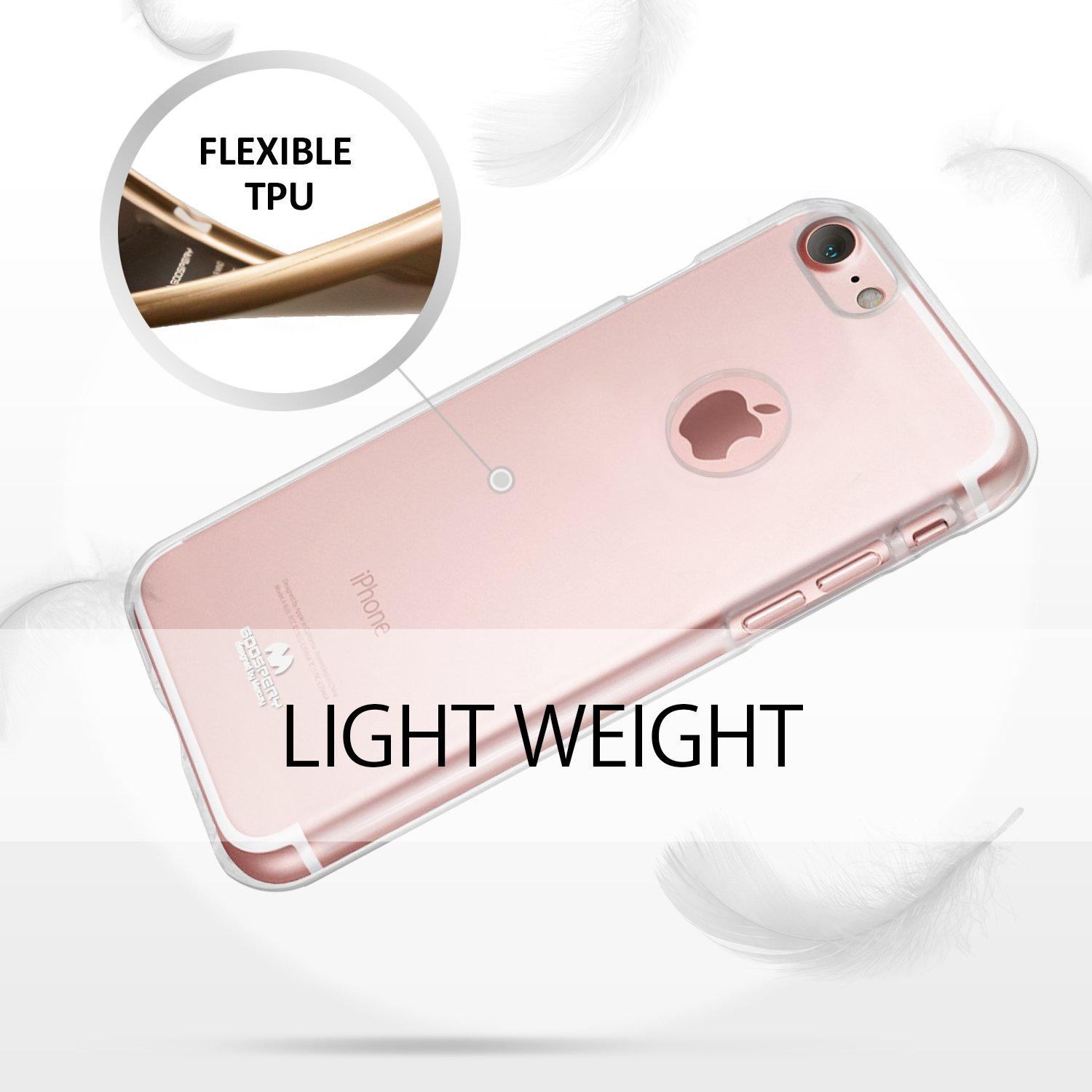 Iphone 7 Case Thin Slim Goospery Flexible Clear X Hybrid Dream Bumper Red Jelly Rubber Tpu Lightweight Cover Impact Resistant For
