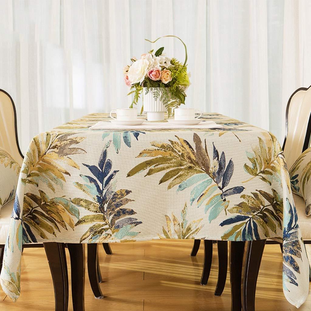 HFY テーブルクロス美しいエレガントな長方形のコットンリネンテーブルクロスブルーレッド (色 : 青, サイズ さいず : 110*170cm) 110*170cm 青 B07S5143NY
