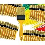 PANCLUB Paint Brushes for Walls I Chip Brush Set 2 inch 40 Pack I S.Chip Brush Never Lose Bristles I 100% Plastic I for Paint