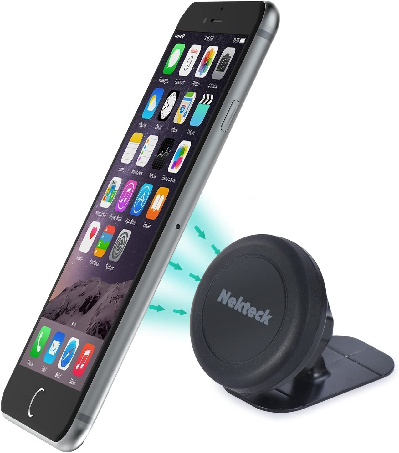 Nekteck Universal Stick on Dashboard Magnetic Car Mount Holder for iPhone X//8//7 6S// 6 6 Plus LG G7 G6 SE Pixel 3//2 XL Nexus 6P 5X More Galaxy S9//S8 S6//S7 Note 9 8 5 Car Mount