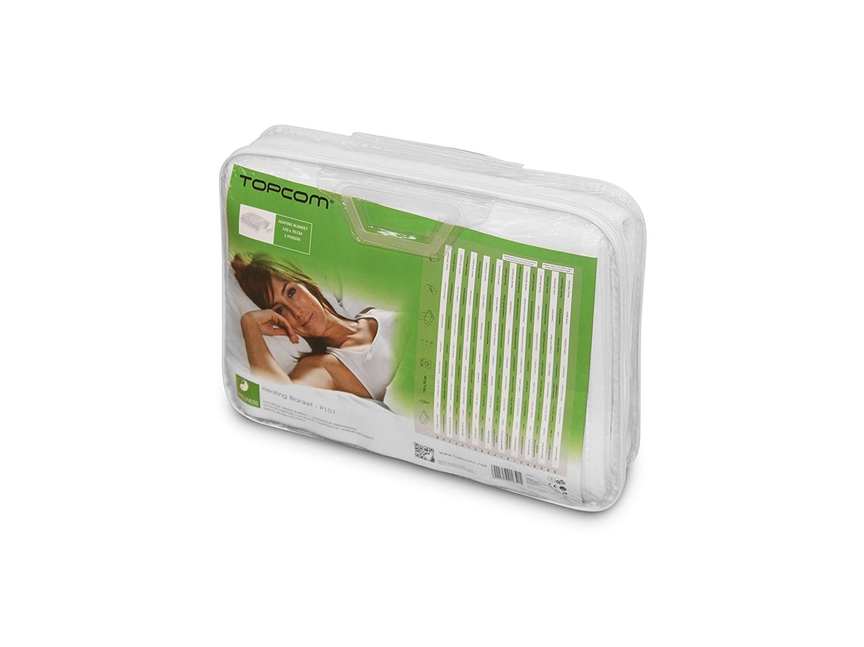 Topcom BW-4751 Manta bajera eléctrica - Manta eléctrica (1500 mm, 700 mm, Poliéster, Lavado a máquina, 40 °C): Amazon.es: Salud y cuidado personal
