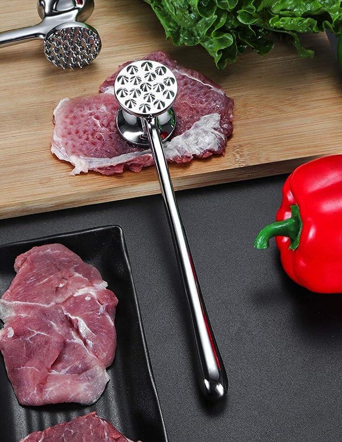 Usuny Marteau /à viande en vrac double face pour steak marteau /à steak en alliage daluminium