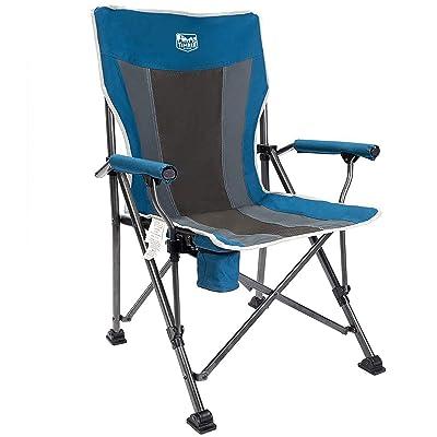 Timber Ridge Camping Chair 400lbs Folding Padded Hard Arm Chair High Back Lawn Chair Ergonomic Heavy Duty