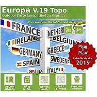 Europa V.19 - Profi Outdoor Topo Karte - Kompatibel zu Garmin GPSMap 60Csx, Legend Hcx