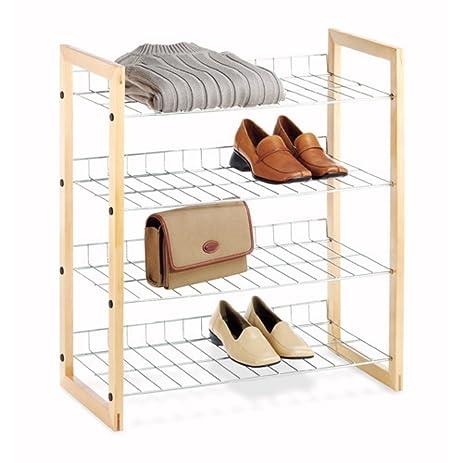 Whitmor 6026 220 Closet Shelves Wood Chrome