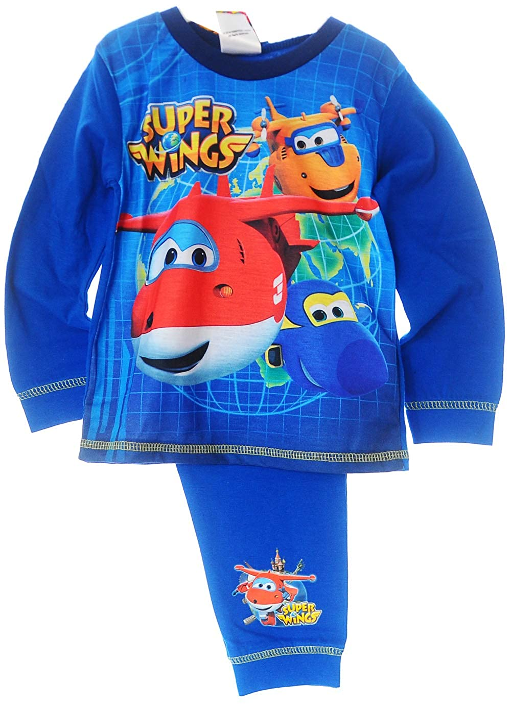 Pyjama Flieger Schlafanzug SET 80 86 92 98 104 110 Shirt Hose Super Wings Planes
