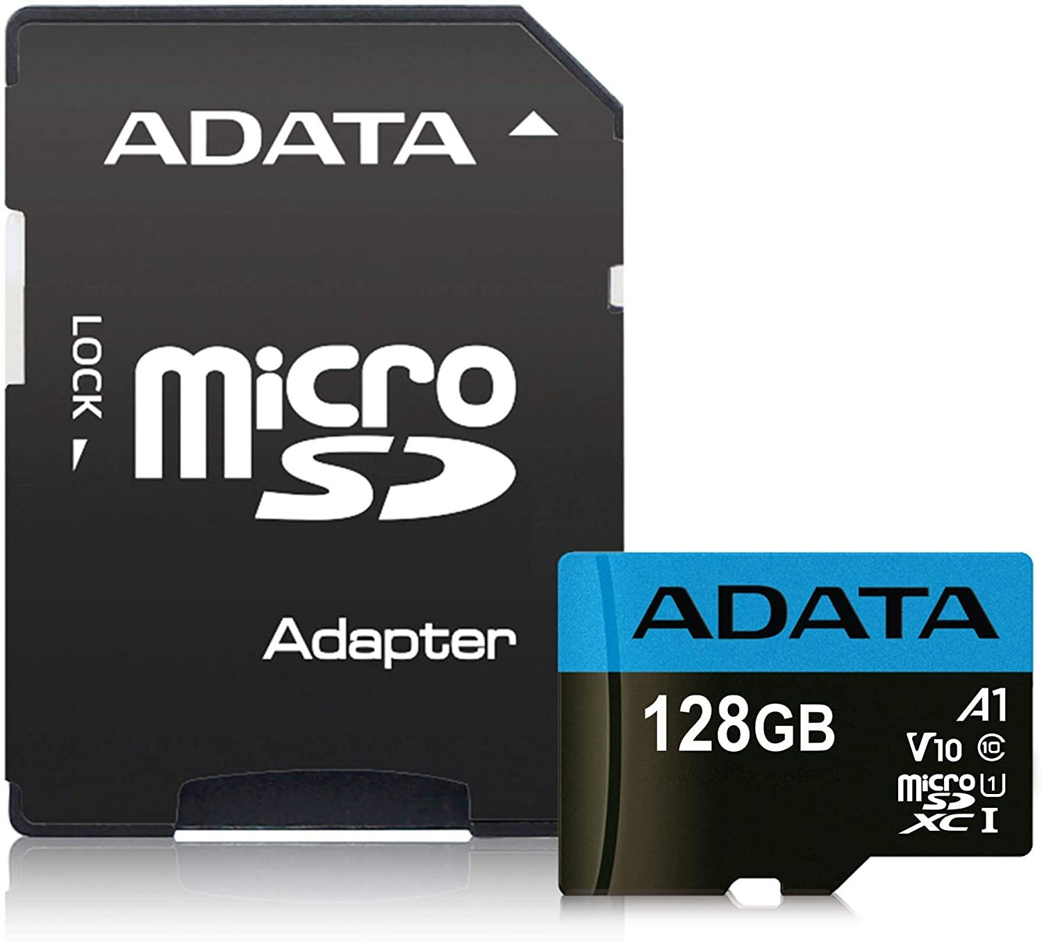 ADATA Premier 128GB MicroSDHC/SDXC UHS-I Class 10 V10 A1 Memory Card with Adapter Read up to 100 MB/s (AUSDX128GUICL10A1-RA1)