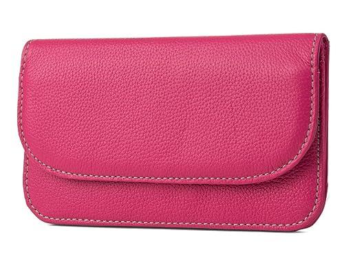 Mundi Womens Slim Flap Envelope Clutch RFID Blocking Wallet With Safe Keeper Technology
