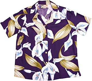product image for Paradise Found Women's Calla Lily Aloha Shirt