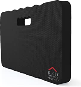 """RED Home Club Thick Kneeling Pad - Garden Kneeler for Gardening, Bath Kneeler for Baby Bath, Kneeling Mat for Exercise & Yoga - Extra Large (XL) 18x11, THICKEST 1-½"""", Black"""
