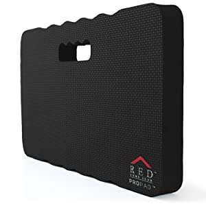 "RED Home Club Thick Kneeling Pad - Garden Kneeler for Gardening, Bath Kneeler for Baby Bath, Kneeling Mat for Exercise & Yoga - Extra Large (XL) 18x11, THICKEST 1-½"", Black"