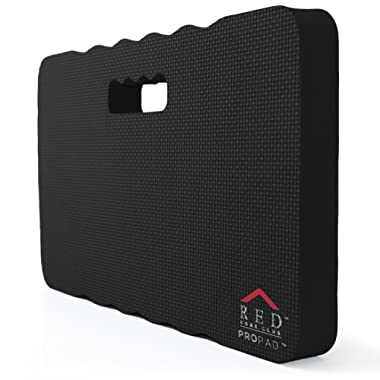 RED Home Club Thick Kneeling Pad - Garden Kneeler for Gardening, Bath Kneeler for Baby Bath, Kneeling Mat for Exercise & Yoga, Knee Pad for Work, Extra Large (XL) 18 x 11 x 1.5 Inches, Black
