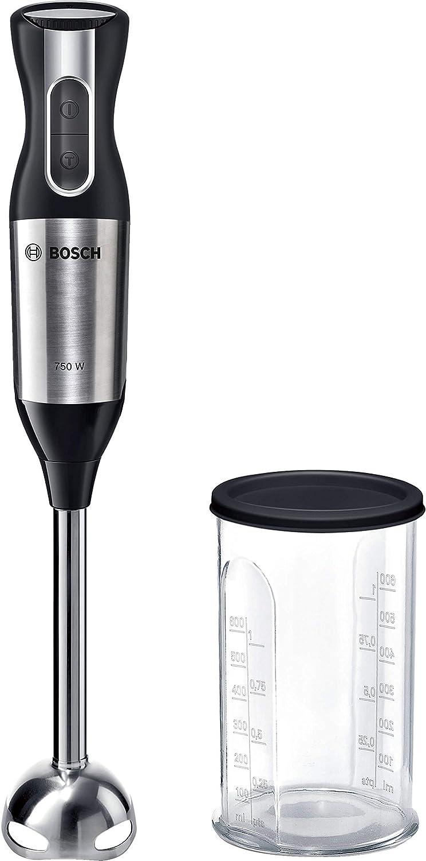 Bosch MSM6S10B Ergomixx Style Batidora de mano, 750 W, color negro y acero